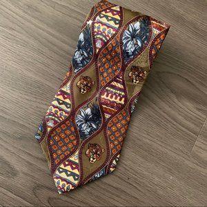 Vintage Vespucci creation 100 silk retro print tie